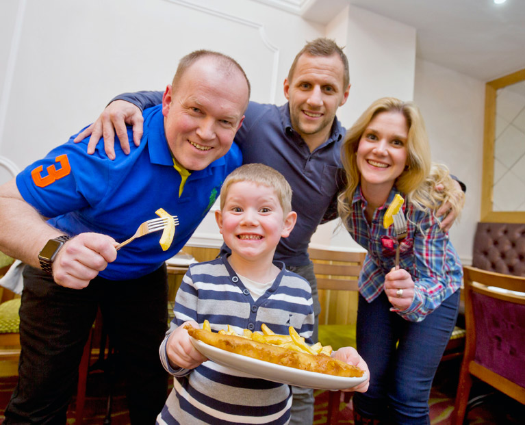 Rob Burrow Leeds Rhinos player at Wetherby Whaler