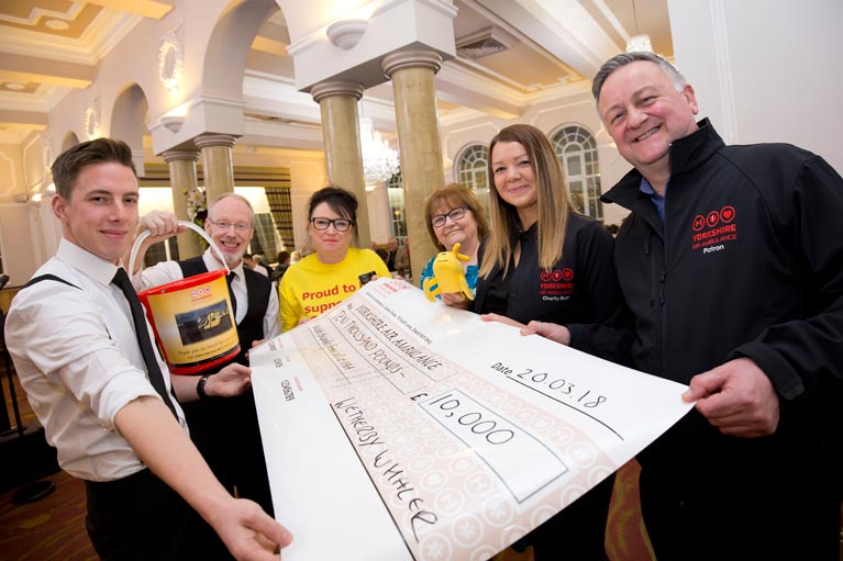 'Whale-sized' donation for Yorkshire Air Ambulance Photo