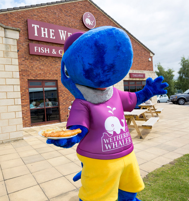 Wetherby Whaler Wally the Whale Macsot
