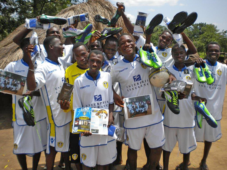 Wetherby Whaler Kits African Footballers with Leeds United FC Strips