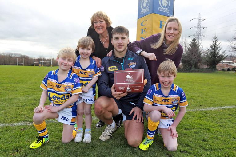 Supporting Leeds Rhinos' Tom Briscoe